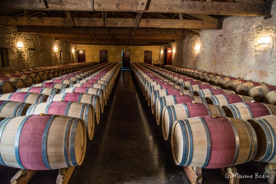 The current cellar aging in oak barrels.– at Chateau Pontet-Canet.