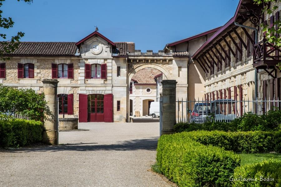 The entry of Chateau Pontet-Canet.